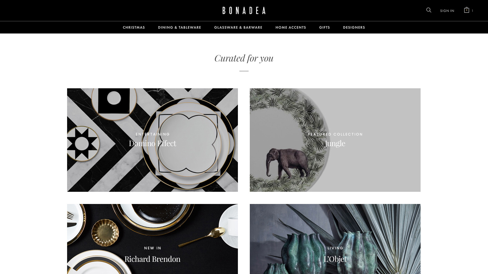 Bonadea online store design and development