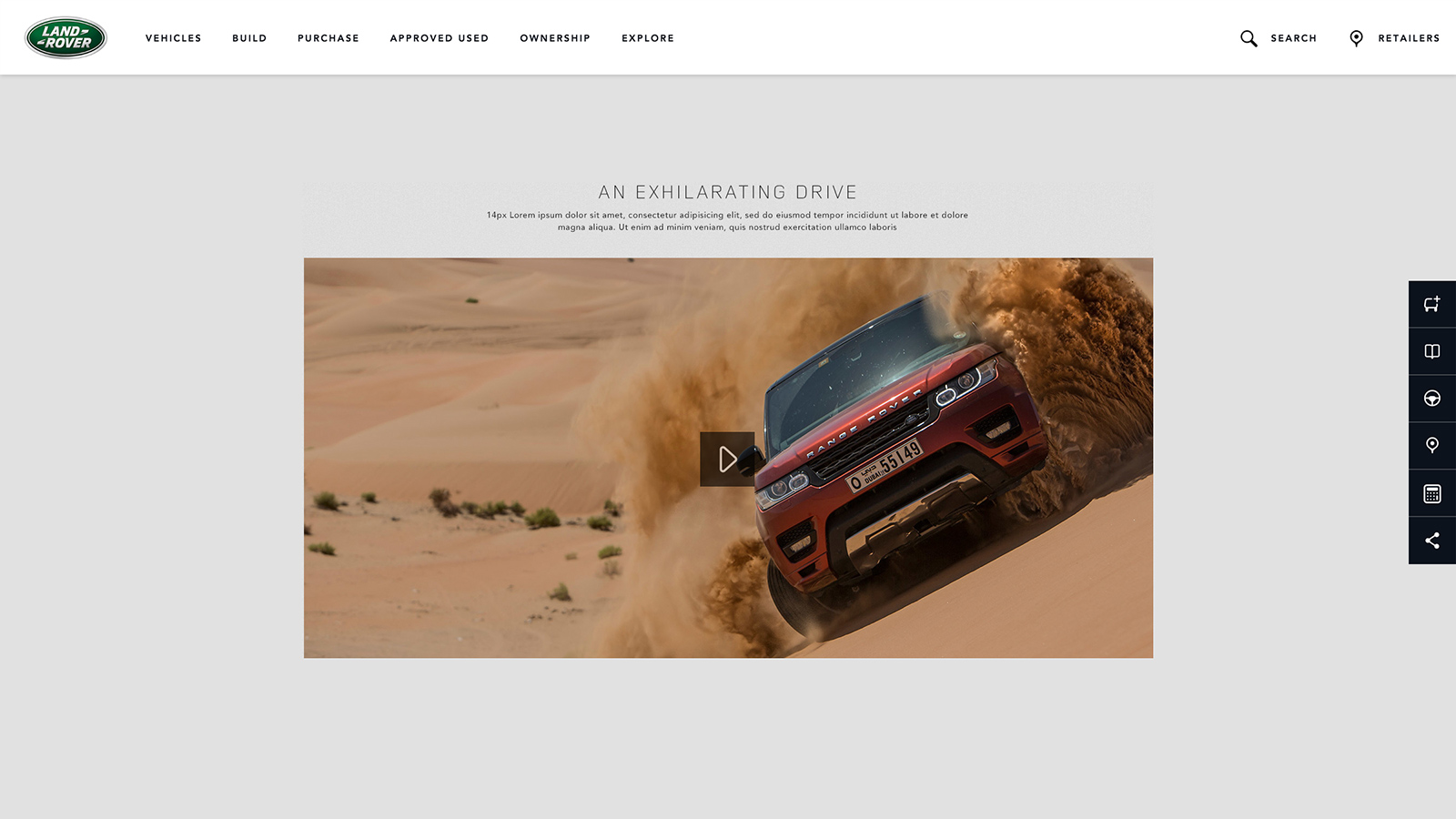 Land Rover global website design and development