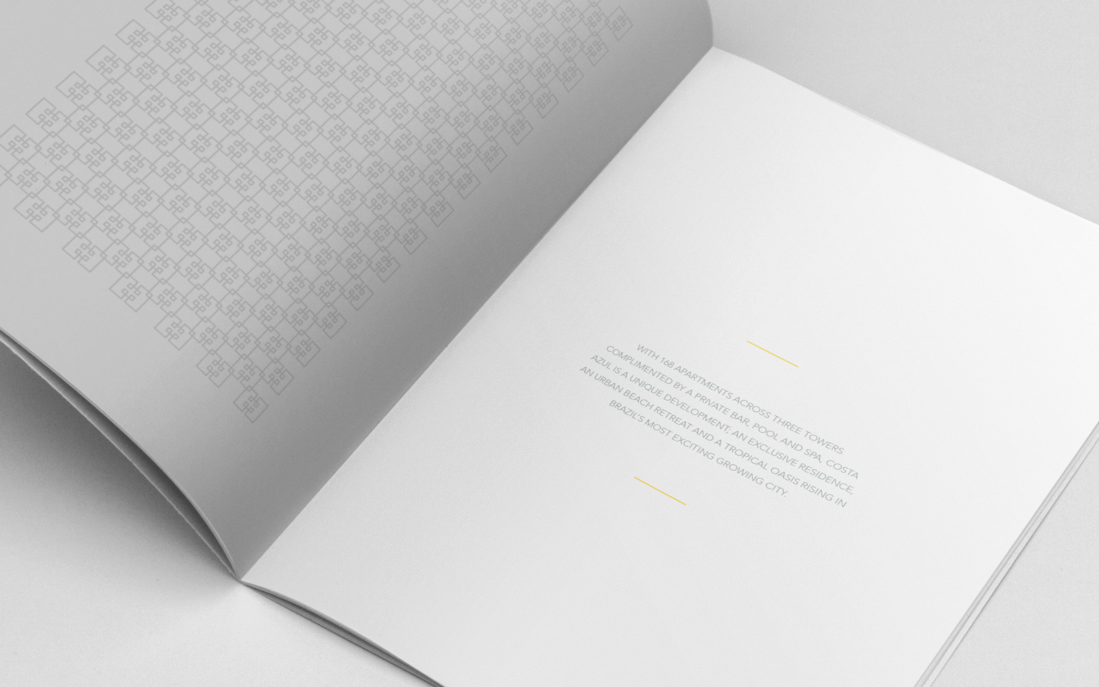 Costa Azul luxury brochure design