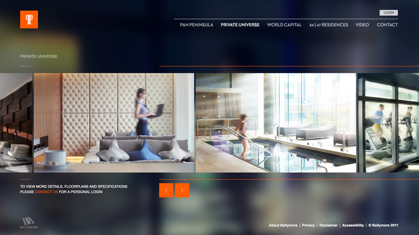 Pan Peninsula website design